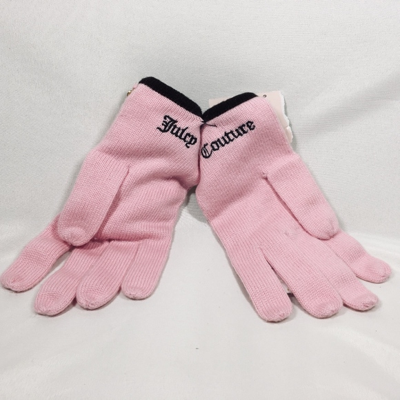 Juicy Couture Accessories - Juicy Couture Pink Wool Gloves with charms